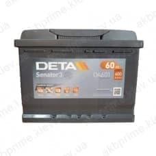 Аккумулятор Deta Senator 3 Carbon Boost 60Ah 600A L+
