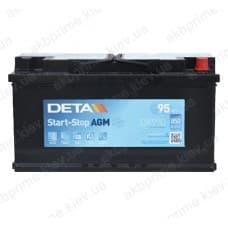 Аккумулятор Deta AGM Start Stop 95Ah 850A R+