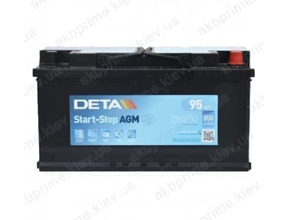 Аккумулятор Deta AGM Start Stop 95Ah 850A R+