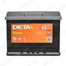 Аккумулятор Deta Power 62Ah 540A L+