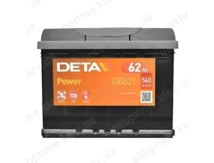 Аккумулятор Deta Power 62Ah 540A R+