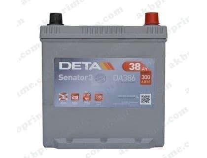 Аккумулятор Deta Senator 3 Carbon Boost Asia 38Ah 300A JR+