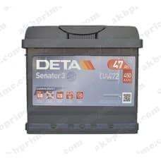 Аккумулятор Deta Senator 3 Carbon Boost 47Ah 450A R+