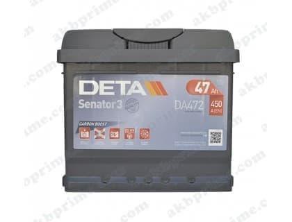 Автомобильный аккумулятор Deta Senator 3 Carbon Boost 47Ah 450A R+