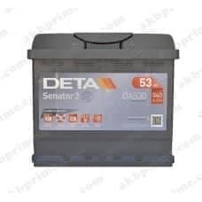 Аккумулятор Deta Senator 3 Carbon Boost 53Ah 540A R+