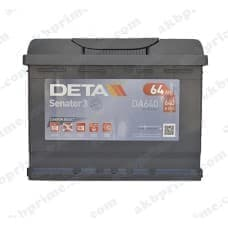 Аккумулятор Deta Senator 3 Carbon Boost 64Ah 640A R+