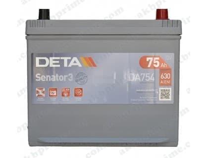 Аккумулятор Deta Senator 3 Carbon Boost Asia 75Ah 630A JR+