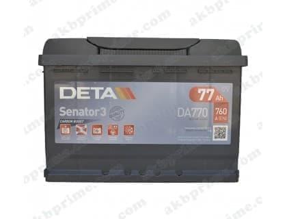 Аккумулятор Deta Senator 3 Carbon Boost 77Ah 760A R+