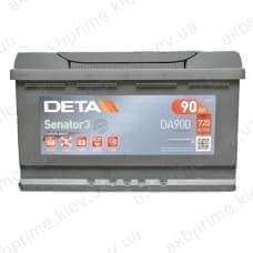 Аккумулятор Deta Senator 3 Carbon Boost 90Ah 720A R+