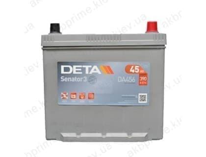 Аккумулятор Deta Senator 3 Carbon Boost Asia 45Ah 390A JR+
