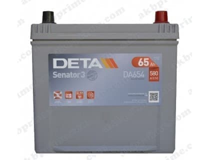 Аккумулятор Deta Senator 3 Carbon Boost Asia 65Ah 560A JR+