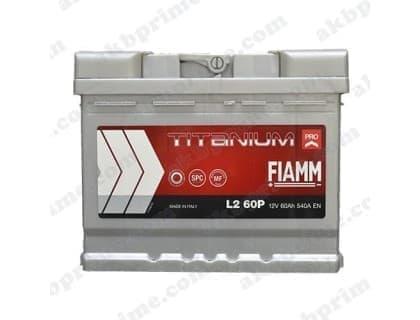 Аккумулятор Fiamm Titanium Pro 60Ah 540A L+