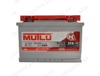 Аккумулятор Mutlu SFB 75Ah 720A R+ (низкобазовый)