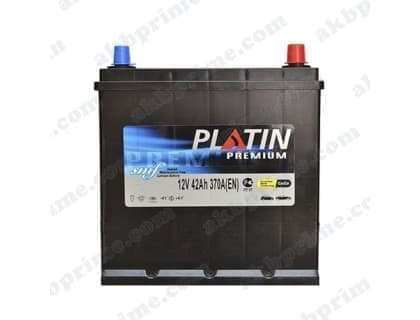 Аккумулятор Platin Premium Asia 42Ah 370A JR+
