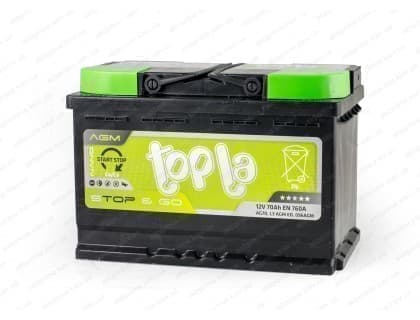 Аккумулятор Topla AGM Start Stop 70Ah 760A R+