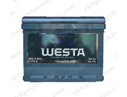 Аккумулятор Westa Premium 60Ah 600A L+