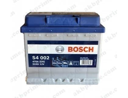 Аккумулятор Bosch Silver 52Ah 470A R+