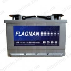 Аккумулятор Flagman Standart 77Ah 680A R+