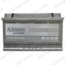 Аккумулятор Flagman Premium 100Ah 850A R+
