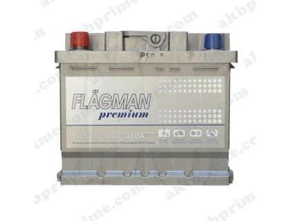 Аккумулятор Flagman Premium 50Ah 480A L+