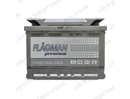 Аккумулятор Flagman Premium 60Ah 600A L+