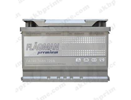 Аккумулятор Flagman Premium 74Ah 720A R+
