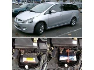 Замена аккумулятора на автомобиле Mitsubishi Grandis (Митсубиси Грандис)