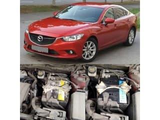 Замена аккумулятора на автомобиль Mazda 6 2013 года с двигателем 2.0 бензин